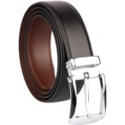 BlacKing Men Party, Formal, Casual Brown, Black Texas Leatherite Belt