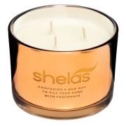 Shela`s Shelas Duftlys Krydret Vanilje Metallisk Glass Krukke 8x11cm