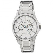 Titan Quartz White Dial Mens Watch-9323SM01