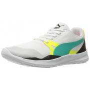 PUMA Men s Duplex Evo Olympics Fashion Sneaker Puma White/Spectra Green/Puma Black 4 D(M) US