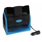 Hx-t301 DC 12V 7W Auto Refrigeracion Ventilador De 2 Velocidades Silencioso Ventilador De Aire Ajustable (negro + Azul)