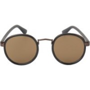 FERRETNXT Round, Oval, Cat-eye Sunglasses(Brown)