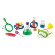 Set de stiinta primar Learning Resources, 10 carduri cu experimente, ochelari de protectie