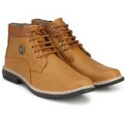 BUCIK Men's TAN Synthetics Leather Lace Up Boots
