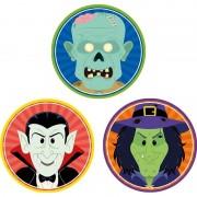 Shoppartners 30x Halloween onderzetters vampier/heks/zombie