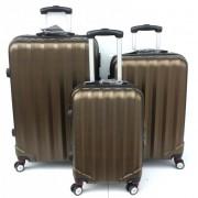 Max P8803bg kufr skořepinový cestovní ABS set 3ks černo zlatý
