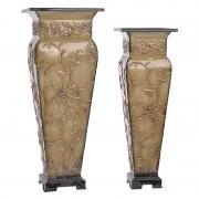 Vaza decor Golden din aluminiu 16x16x40cm