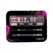 2K Night & Day tonalità Dawn confezione regalo palette ombretti 8,16 g + matita occhi 0,6 g Black + matita occhi 0,6 g Grey donna