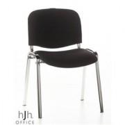 Hjh Sedia per sala conferenze MOBY, economica, comoda e resistente, in nero e gambe cromate