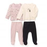 La Redoute Collections 2er-Pack 2-teilige Pyjamas, Baumwolle, 0-3 Jahre