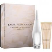 DKNY Liquid Cashmere White lote de regalo III eau de parfum 100 ml + eau de parfum roll-on 10 ml + leche corporal 100 ml