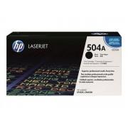 HP CE250A Lézertoner ColorLaserJet CM3530, CP3525 nyomtatókhoz, HP 504A fekete, 5k Eredeti kellékanyag