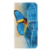 Samsung Galaxy A7 2018 / A7 Dual A750F (калъф кожен) 'Blue Butterfly'