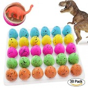Blu7ive Hatch and Grow Easter Dinosaur Eggs - Novelty Hatching Toy with Mini Toy Dinosaur Figures Inside for kids