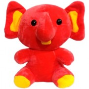 G.S. Baby Cute Elephant Plush Soft Toy for Kids Orange (10-inch)
