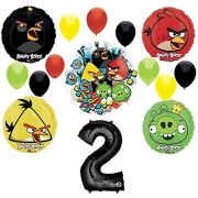 Mayflower Products Angry Birds 2Nd Birthday Party Supplies And Group See-Thru Balloon Decorations