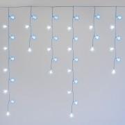 Luci Da Esterno Stalattite 3,75 x 1 m, 136 fiocchi di neve con LED bicolore bianco freddo e blu