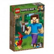 Конструктор Лего Майнкрафт - Steve BigFig с папагал, LEGO Minecraft 21148