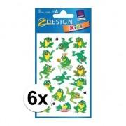 Geen Groene kikker stickertjes 6 vellen