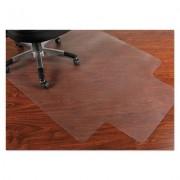 Pvc Chair Mat For Hard Floors, 45 X 53, 12 X 25 Lip, Clear