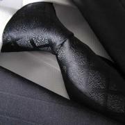 Distino Of Melbourne Check Silk Necktie Black 61