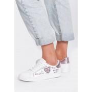 Biało-Różowe Buty Sportowe Never Walk Alone
