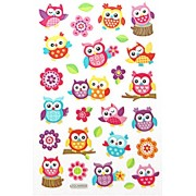 TOYSFORKARRY Scrapbooking Kawaii Emoji Reward Kids Children Animals Cute Colorful Owl Birds Shining Foil Stickers - Multi Color