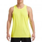 Gildan Sportkleding sneldrogend neon groen voor heren