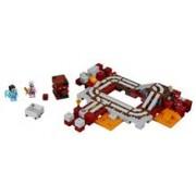 Lego® Minecraft Calea Ferata Nether - 21130