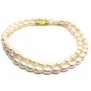 White Freshwater Pearl/Saccha Moti Mala Rain Drop Rudra Divine Necklace for Women
