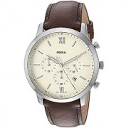 Fossil Analog Off-White Dial Mens Watch-FS5380