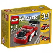 Конструктор ЛЕГО Криейтър - Червена състезателна кола, LEGO Creator, 31055