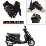 AutoStark Gloves KTM Bike Riding Gloves Orange and Black Riding Gloves Free Size For Hero Pleasure
