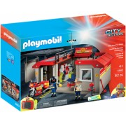 Playmobil City Action - Set mobil statie de pompieri