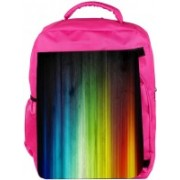 Snoogg Eco Friendly Canvas Abstract Mixed Color Design Designer Backpack Rucksack School Travel Unisex Casual Canvas Bag Bookbag Satchel 5 L Backpack(Pink)