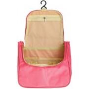 Swadec Waterproof Cosmetic Wash Organizer Hanging Storage Bag - Light Pink Travel Toiletry Kit(Multicolor)