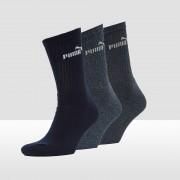 PUMA Crew sokken 3-pack Dames - D.blauw - Size: 39