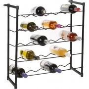 Wijnrek - Voor 30 flessen - Zwart