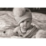 EJA Art cute-baby-black-in-white-hd Without Frame Paper Poster Size 30X45 cms (With 12 Butterfly Free)