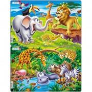 Set 2 Puzzle-uri Safari Larsen, 14 piese