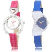 The Shopoholic Silver Blue Combo Treny and Precious Silver And Blue Dial Analog Watch For Girls Stylish Watches For Women