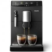 Автоматична еспресо машина Saeco series 3000 Black, регулируема мелачка, Philips HD8827/09