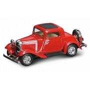 1932 Ford 3 Window Coupe, Red Yatming 94231 1/43 Scale Diecast Model Toy Car