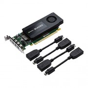 PNY NVIDIA VCQK1200DP-PB QUADRO K1200 Carte Graphique Pro 4 Go GDDR5 PCI-Express Low Profile 4K 4 x DP