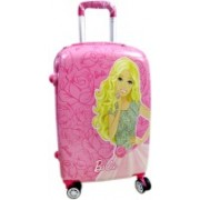 Kris toy Barbie Set of 2 Bags 22 inch and 18 inches Both Side Printed 4 Wheel Kids Trolley Bag for gils Expandable Check-in Luggage - 23 inch(Pink)