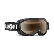 Snow View Óculos de Snowboard Camada REVO Espelhado Preto Armação Preto