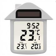 Okenný teplomer digitálny v tvare domčeku