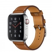 Часы Apple Watch Hermès Series 5 GPS + Cellular 40mm Stainless Steel Case with Single Tour (Fauve)