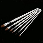 ELECTROPRIME® 6pcs Horse Hair Artist Paint Brushes Set for Oil Watercolor Acrylic Painting