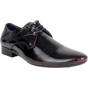 Yellow Tree Reddish Black Formal Shoes For Mens Lace Up Doted Reddish Black Shoe